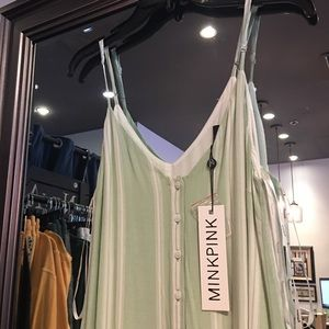 NWT!! Mink Pink on the line jumpsuit